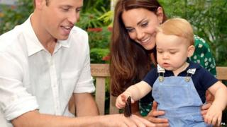 Prince George with his mother and father have been released