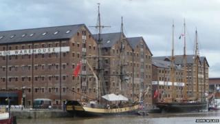 Tall ships in Gloucester Docks