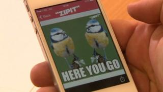 Zipit app on mobile phone