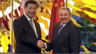 President Xi Jinping's meeting with his Cuban counterpart Raul Castro will boost trade ties, papers say