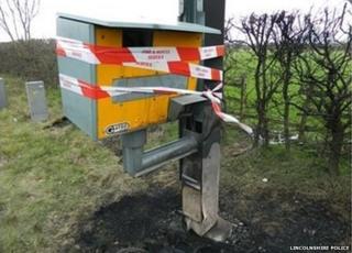 burnt speed camera