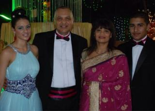 Freya Shah, her father Biren Shah, her mother Vina Shah and her brother Zenith Shah