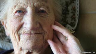 elderly face