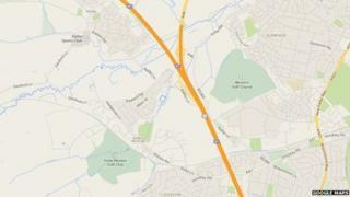 Junction 21A M1 motorway