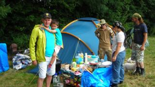 Protest camp at Dudleston