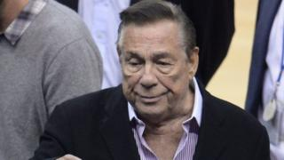File photo: Los Angeles Clippers owner Donald Sterling at an NBA playoff game between the Clippers and the Golden State Warriors at Staples Center in Los Angeles, California, 21 April 2014