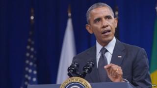 File photo: US President Barack Obama, 28 July 2014