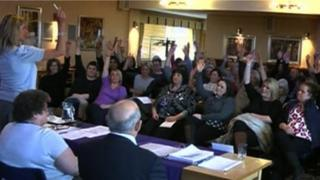 Care workers union meeting in Doncaster