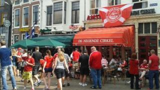 Aberdeen fans in Groningen