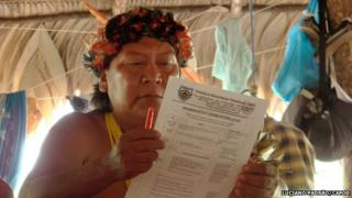 Davi Kopenawa, a Yanomami leader and shaman