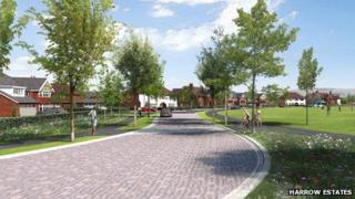 Artist impressions of the 920-home development in Woodford Aerodrome, Chester Road in Stockport