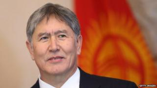 Kyrgyz President Almazbek Atambayev during a visit to Germany in 2012