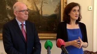 Charlie Flanagan and Theresa Villiers