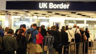 UK Border Desks in Terminal 5 of Heathrow