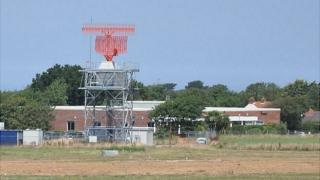 Guernsey Airport radar tower