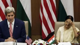 Mr Kerry held discussion with his Indian counterpart Sushma Swaraj in Delhi on Thursday