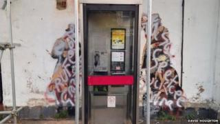 Defaced Banksy artwork