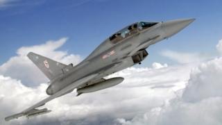 RAF Typhoon fighter jet