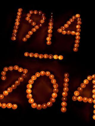 WW1 centenary candles
