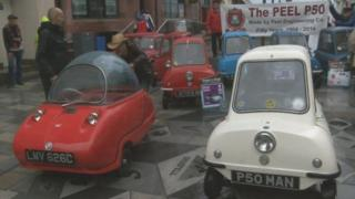 P50 cars at Isle of Man festival