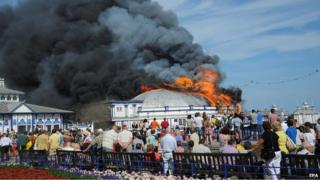 Fire on Eastbourne Pier