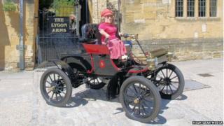 Joy Rainey and her car