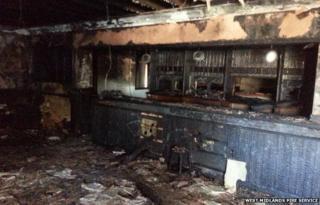 Burned pub
