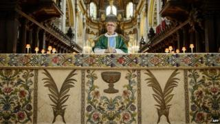 Altar frontal at St Paul's