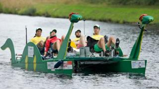 Nessie-shaped pedalo