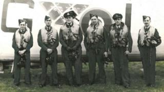 Sgt R D Arding with his squadron