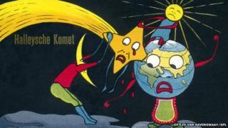 Cartoon of Halley's comet