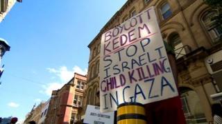 Manchester Gaza protest