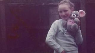 Julie Finley as a child