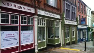 Shops on Rotherham High Street