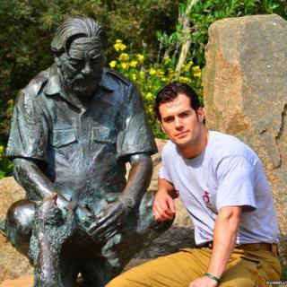 Henry Cavill at Durrell wildlife park. Pic: Durrell
