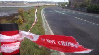 portaferry road newtownards crash scene