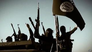 Image of Islamic State fighters taken from a video released by the group - 17 March 2014