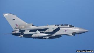 Royal Air Force Panavia Tornado GR4 fighter jet, fighter plane, military aircraft