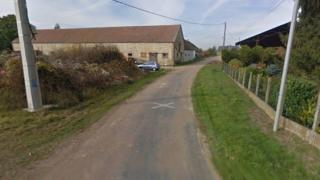Screen grab from Google map image of La Mort aux Juifs hamlet