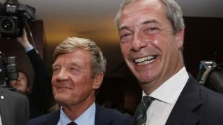 UKIP donor Paul Sykes and party leader Nigel Farage