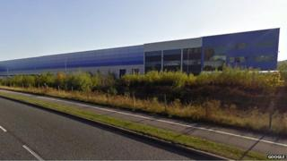 Amazon warehouse in Rugeley