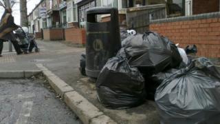 bins on a street