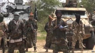 A file picture of a video released by Boko Haram showing their leader