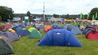 Campers at V Festival