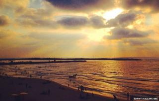 gaza beach 17 August