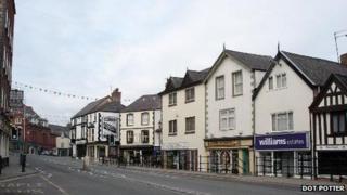 Denbigh town centre