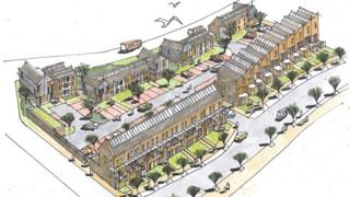 The plans involve a mix of homes and apartments