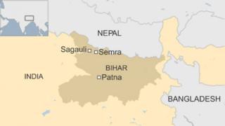 Map of Bihar in India