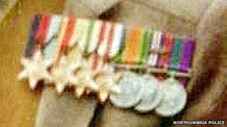 Stolen war medals