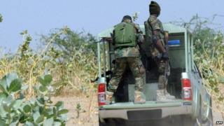 Members of the armed forces in Borno state, Nigeria - April 2013